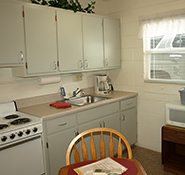 Motel Room A - kitchen